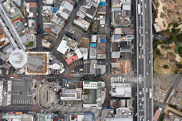 Cityscape, aerial view, shinsakai, Tsutenkaku Tower, Osaka, Japan