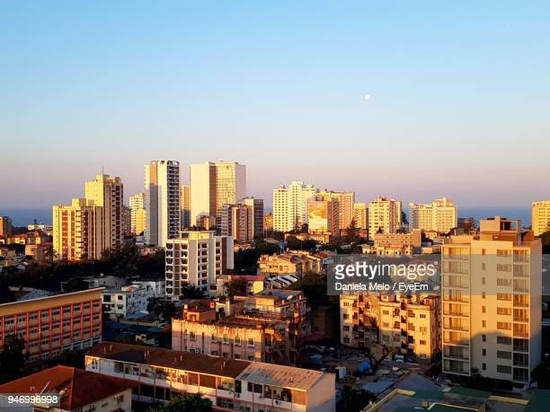 cityscape against clear sky - mozambique stock pictures, royalty-free photos & images