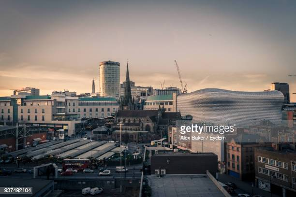 cityscape against sky during sunset - west midlands stock pictures, royalty-free photos & images