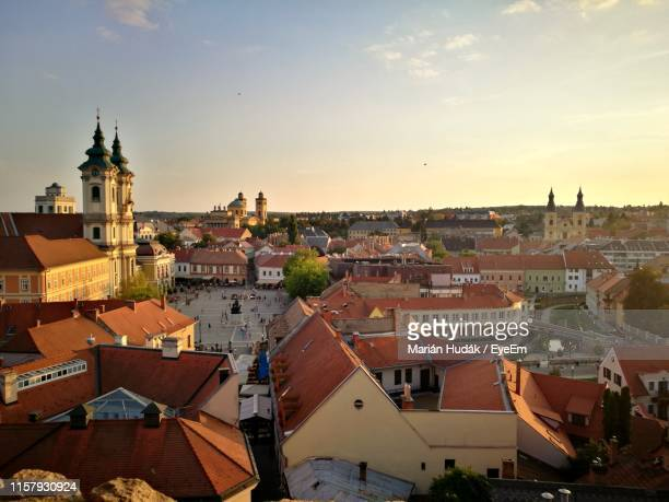 cityscape against sky - hungary stock pictures, royalty-free photos & images