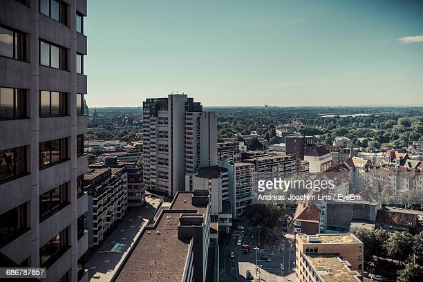 cityscape against sky - hanover germany stock pictures, royalty-free photos & images