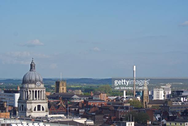 cityscape against sky - nottingham stock photos and pictures