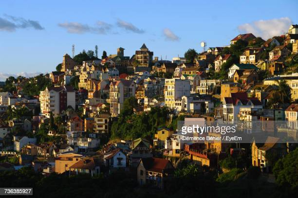 cityscape against sky - antananarivo stock pictures, royalty-free photos & images