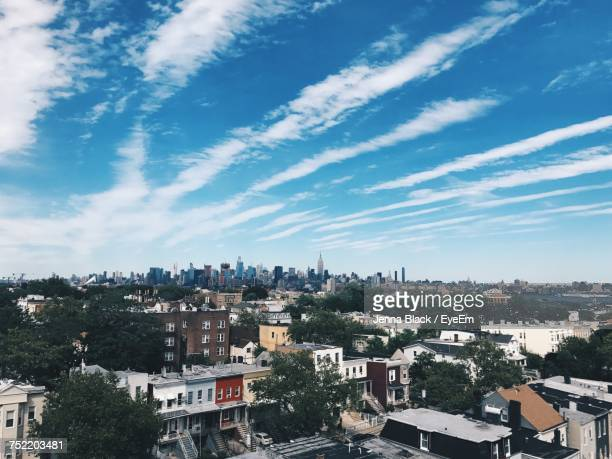 cityscape against sky - jersey city stock pictures, royalty-free photos & images