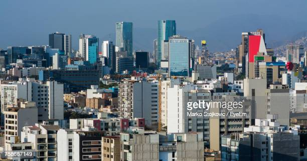 cityscape against sky - lima stock pictures, royalty-free photos & images