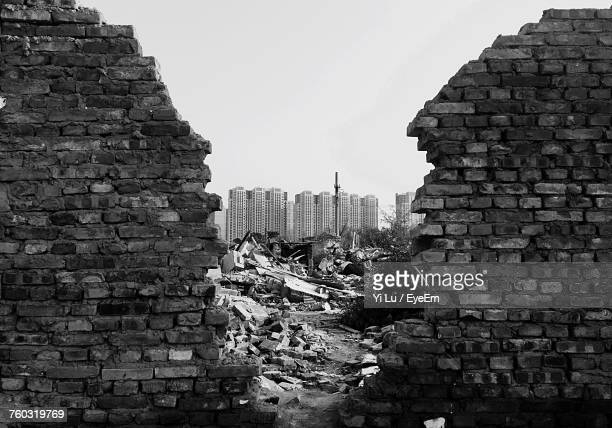 cityscape against sky - rubble stock photos and pictures