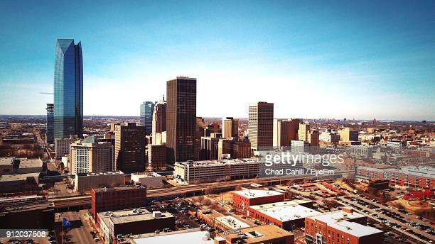 cityscape against sky - oklahoma city stock pictures, royalty-free photos & images