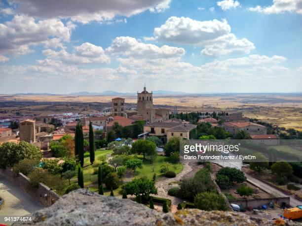 cityscape against sky - extremadura stock pictures, royalty-free photos & images