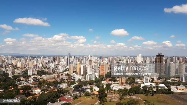 cityscape against sky - curitiba stock pictures, royalty-free photos & images