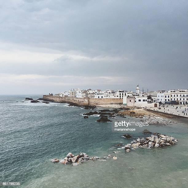 Cityscape and beach, Essaouira, Morocco
