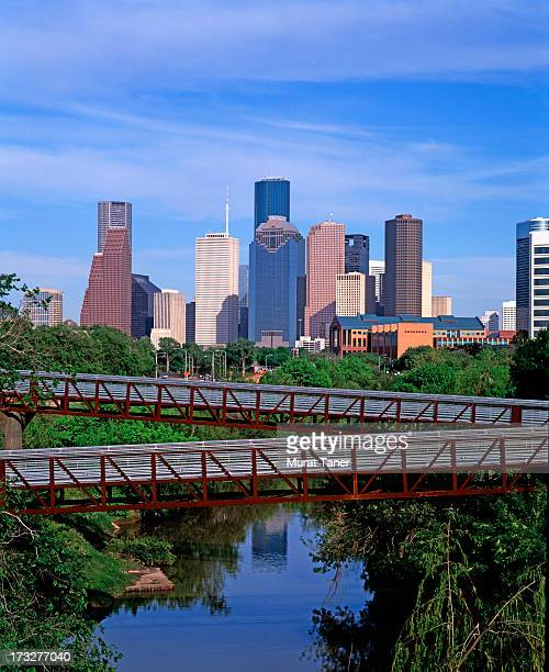 cityscape and bridge - houston stock pictures, royalty-free photos & images