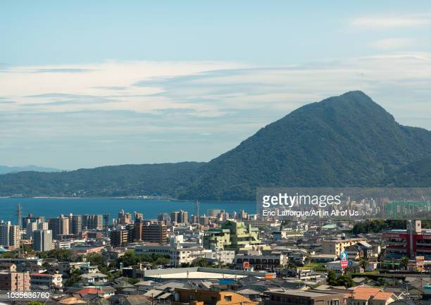 Cityscape and coastline Oita Prefecture Beppu Japan on August 17 2018 in Beppu Japan