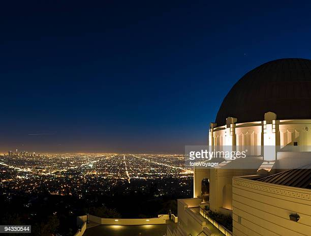 LA cityscape and observatory