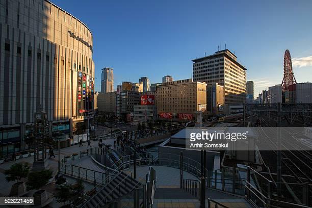 Cityscape and Osaka station