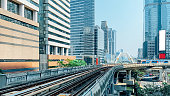 cityscape public skytrain transportation