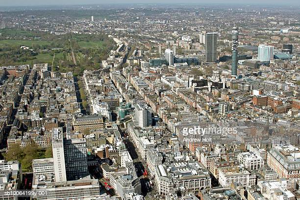 Cityscape and Regent's park, aerial view