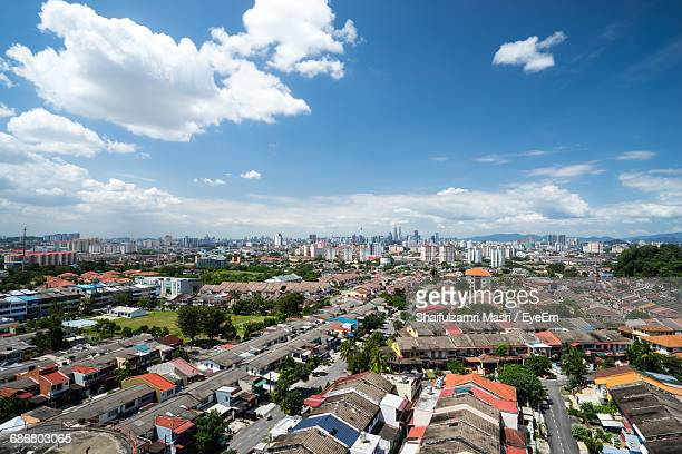 cityscape and sky - shaifulzamri stock pictures, royalty-free photos & images