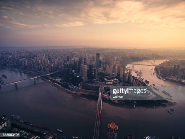 cityscape and skyline of chongqing - chongqing stock photos and pictures