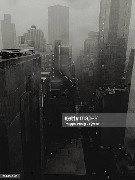 Cityscape And Street During Monsoon