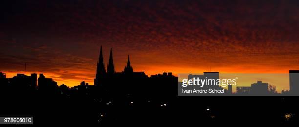 cityscape at dawn, la plata, argentina - la plata argentina stock pictures, royalty-free photos & images