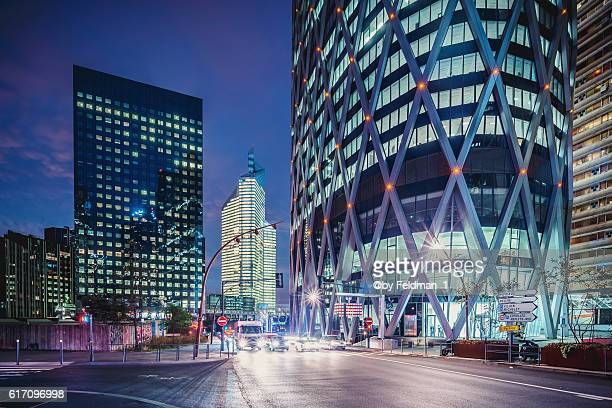 Cityscape at early morning in La Defense, Paris, France