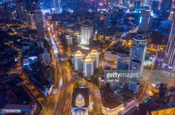 cityscape at night - liyao xie stock pictures, royalty-free photos & images