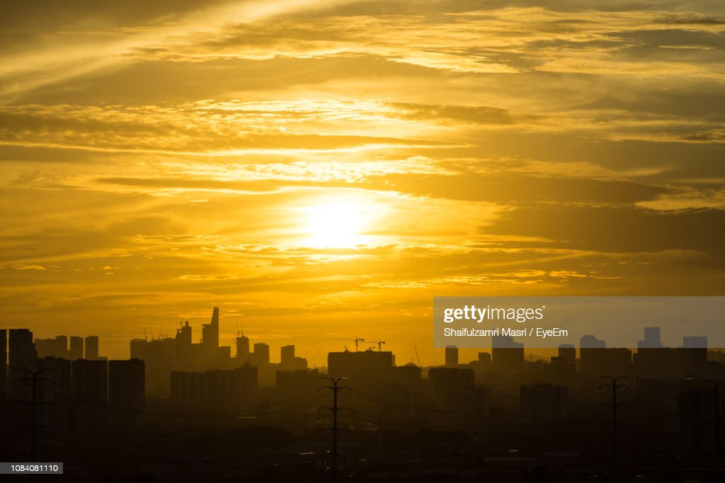 Cityscape At Sunset : Stock Photo