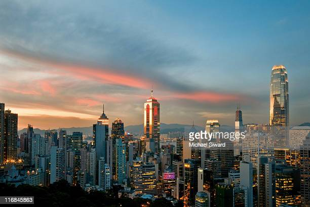 cityscape at sunset - michael siward stock pictures, royalty-free photos & images
