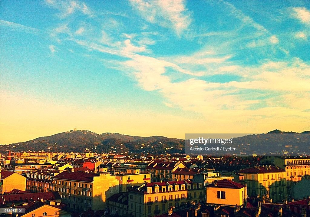 Cityscape At Sunset : Foto stock
