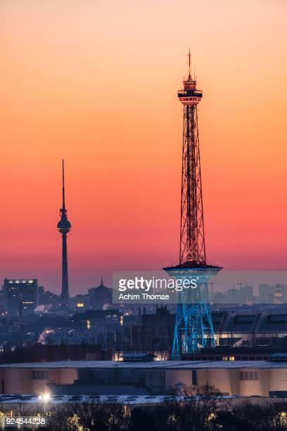 cityscape berlin, germany, europe - achim thomae stock-fotos und bilder