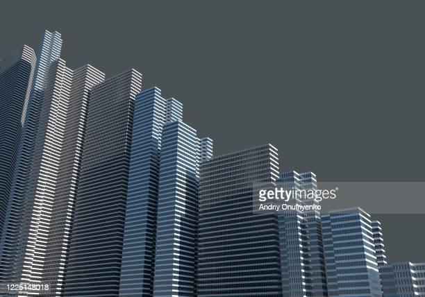 cityscape chart. - torre struttura edile foto e immagini stock
