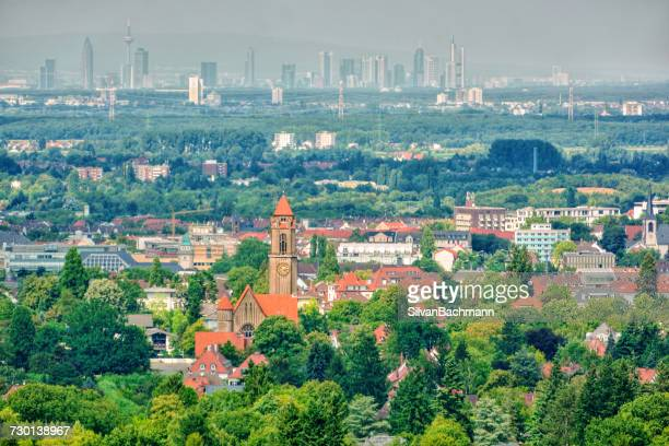 Cityscape, Darmstadt and Frankfurt am Main, Germany