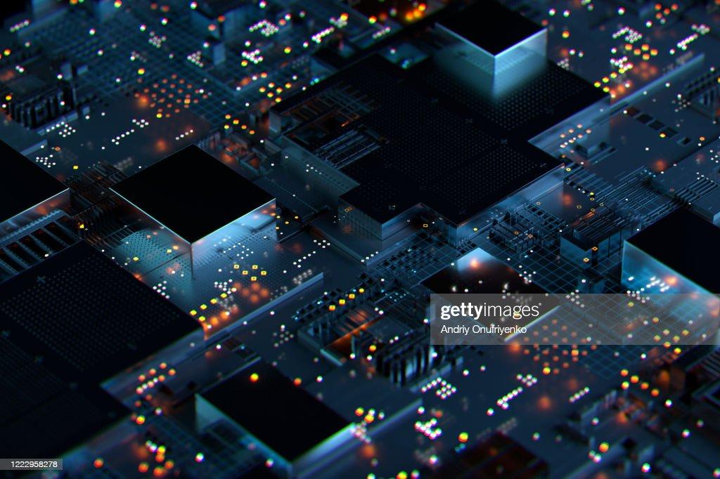 Cityscape data : Stockfoto
