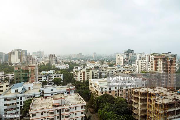 Cityscape Dhaka on April 10 2016 in Dhaka Bangladesh