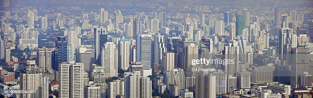 Cityscape, elevated view : Foto stock