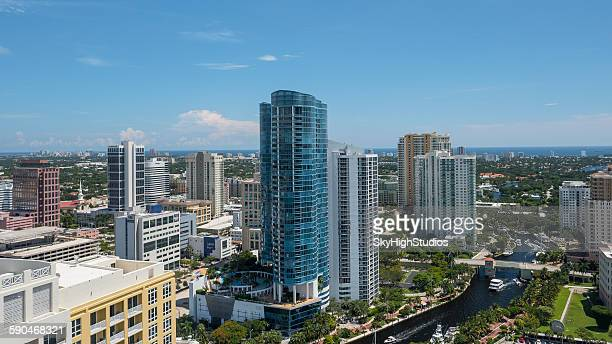 cityscape, fort lauderdale, florida, america, usa - fort lauderdale stock pictures, royalty-free photos & images