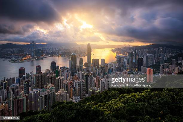 Cityscape from the Peak, Hong kong