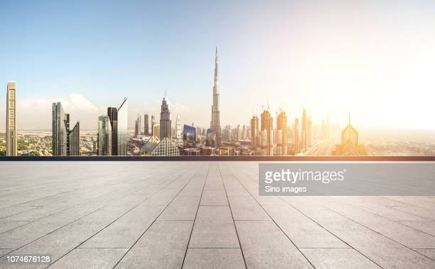cityscape in bright sunlight, dubai, united arab emirates - image stock pictures, royalty-free photos & images