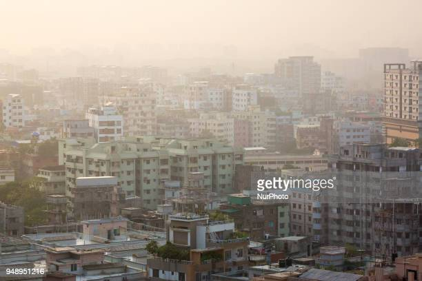 Cityscape in Dhaka Bangladesh on April 19 2018 At least 4284 people including 516 women and 539 children were killed and 9112 others injured in 3472...