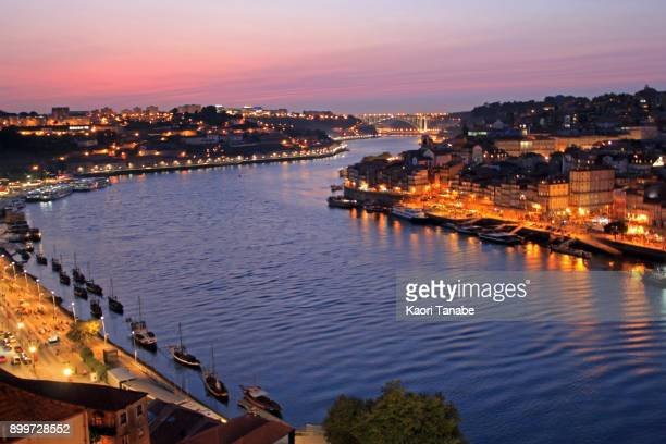 cityscape in porto - douro river stock photos and pictures