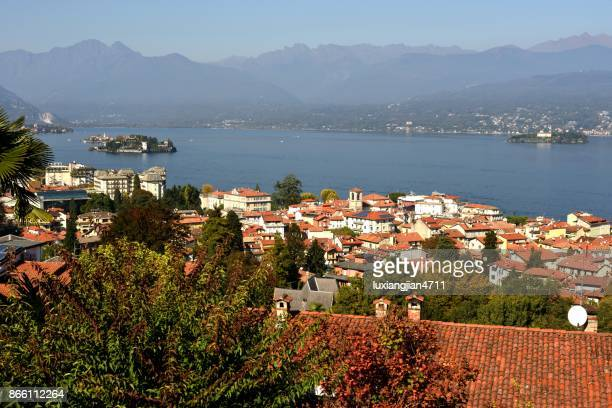 Cityscape in Stresa city,Italy