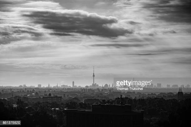 Cityscape in the morning with Berlin Television Tower in the Center on September 22 2017 in Berlin Germany