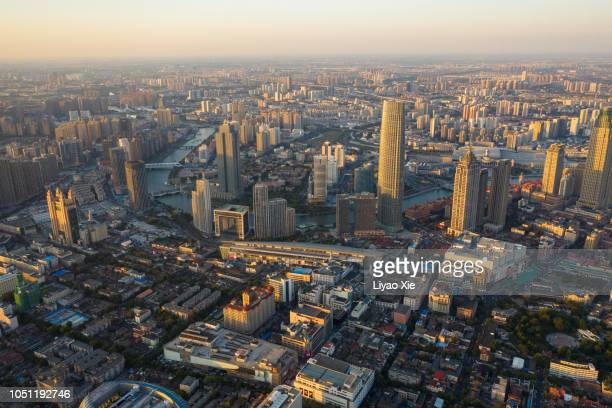 cityscape in the sunset - liyao xie stock pictures, royalty-free photos & images