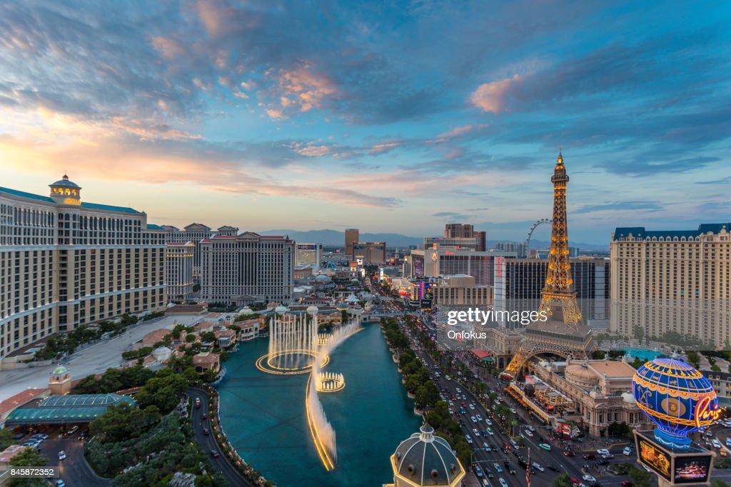 Cityscape Las Vegas Skyline at Sunset : Stock Photo