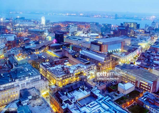 Cityscape Liverpool from above