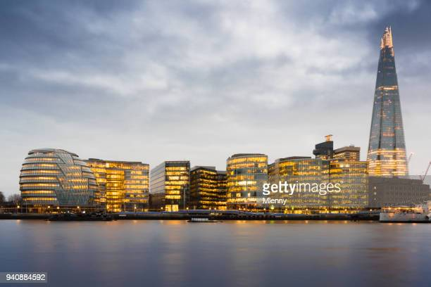 Cityscape London Twilight River Thames United Kingdom