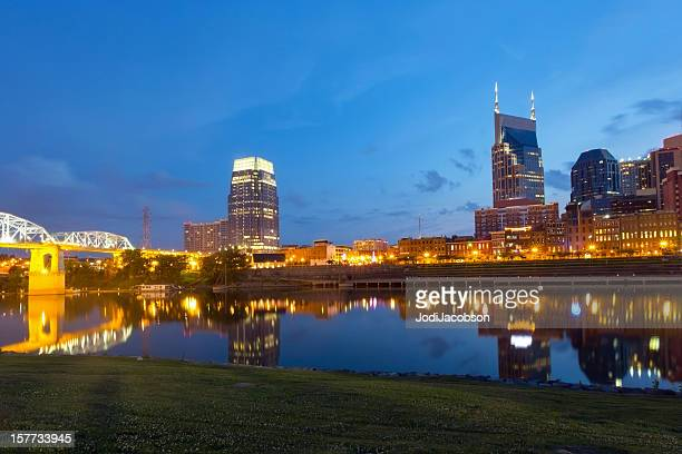 Cityscape: Nashville Tennessee Skyline at golden hour