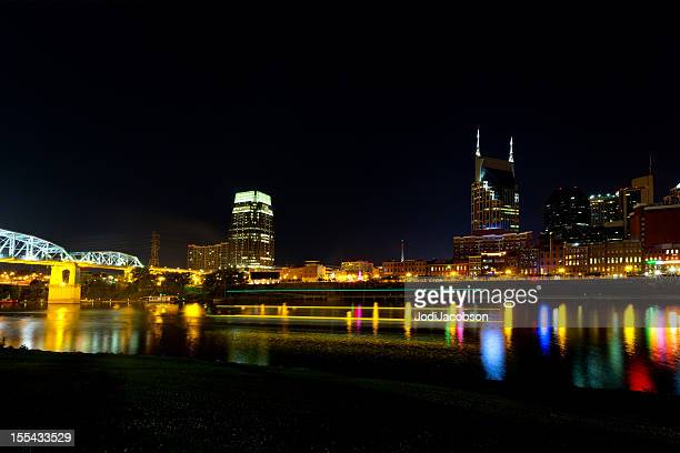 Cityscape: Nashville Tennessee Skyline at night