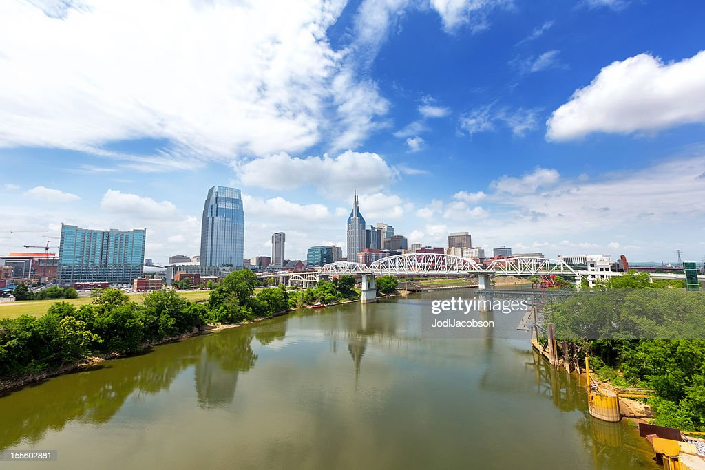 Cityscape: Nashville Tennessee Skyline Daytime : Stock Photo