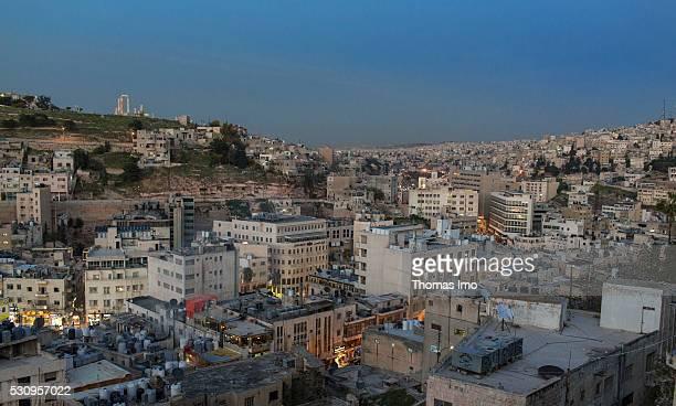 Cityscape of Amman on April 03 2016 in Amman Jordan